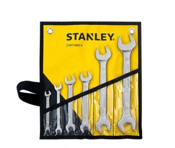 Bộ cờ lê hai đầu mở 6 chiếc 6x7-21x23 mm Stanley STMT73663