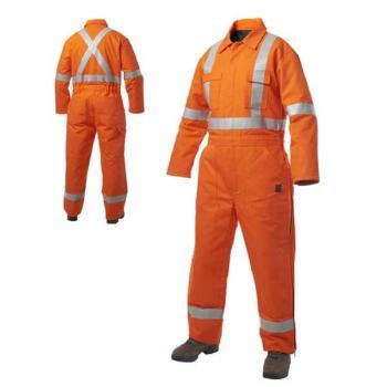 Bộ áo liền quần có phản quang Kaki-03
