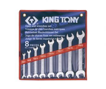 Bộ cờ lê 2 đầu mở 8 chiếc 6x7-20x22mm Kingtony 1108MR