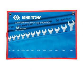 Bộ cờ lê 2 đầu mở 12 chiếc 6x7-30x32mm Kingtony 1112MRN